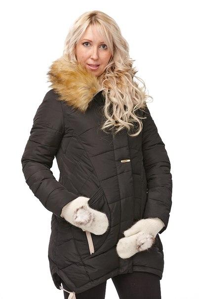 Куртка зимняя для беременных. Куртка длинная Капри с мехом зима